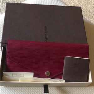 Louis Vuitton red Epi leather Josephine wallet